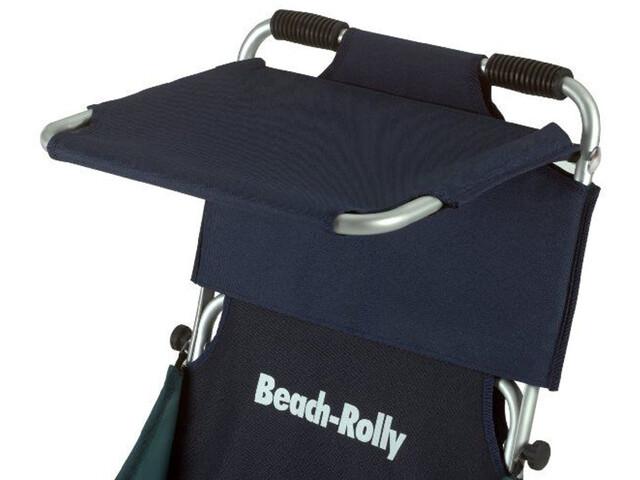 Eckla Techo Solar con Cortavientos para Beach-Rolly, blue